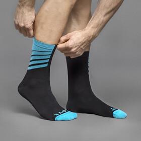 GripGrab Racing Stripes Socks Black/Blue